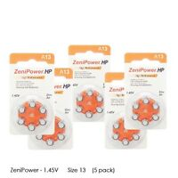Zenipower Hearing Aid Batteries Size 13 1.45v, Pr48 (30 Pcs)