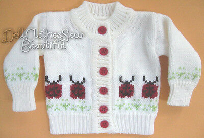 """Ladybug Cardigan Sweater made for 18"""" American Girl Doll Clothes"""