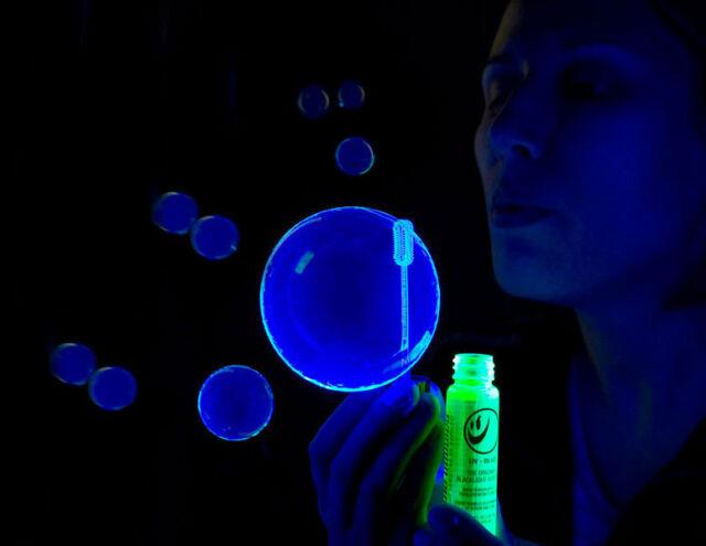 1oz Bottle BLUE or GOLD Blacklight Reactive Tekno Bubbles