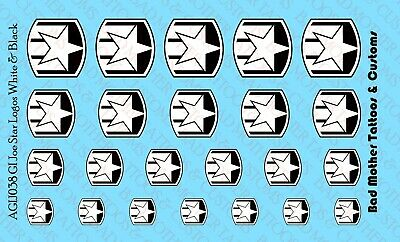 Opaque Waterslide Decals Small Scale Decals GI Joe Eagle Logos