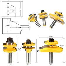 3pcs 1/2'' Shank Rail & Stile Ogee Cutter Panel Tool Cabinet Router Bits Set