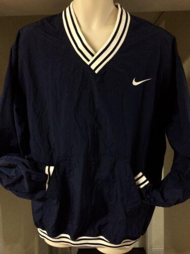 grande o Taiwan de chaqueta marino azul Vendimia cuello tama Pullover la V Varsity Nike Windbreaker zAngqpOf
