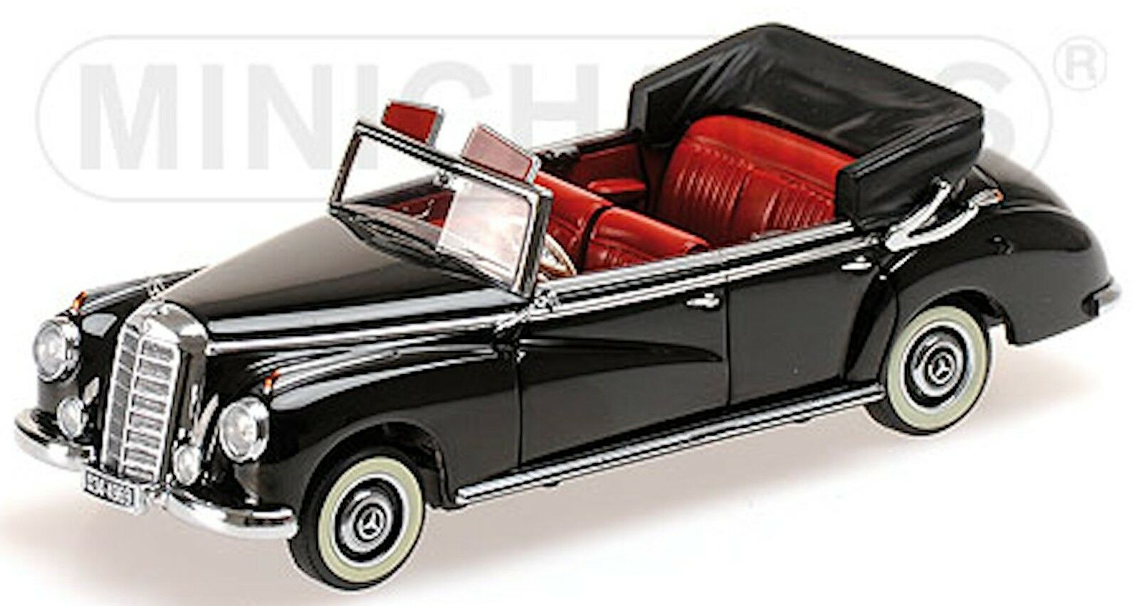 MERCEDES BENZ 300 Cabriolet W186 - 1952 - 1 43 NERO nero lim. 650 pcs