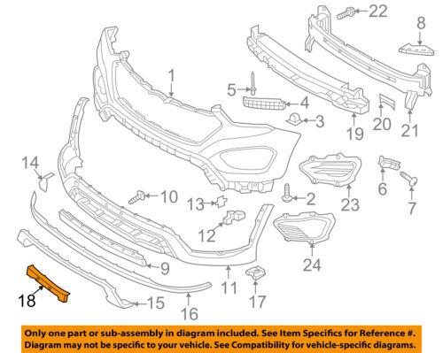 HYUNDAI OEM Santa Fe Front Bumper Grille Grill-License Plate Frame 86560B8010
