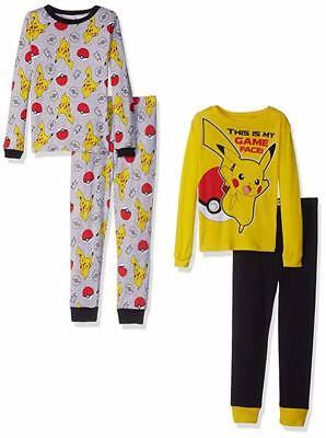 Pokemon Boys 4pc Cotton Pajama Pant Set Size 4 6 8 10 | eBay