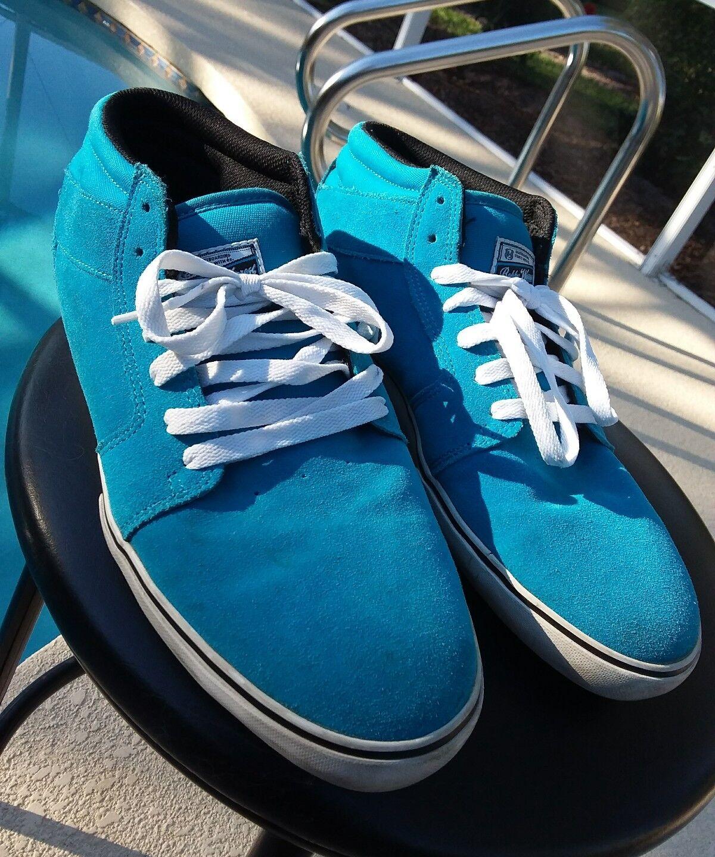 ÉS Footwear BOBBY WORREST Skateboard Shoes Uomo Size 13 Suede SKATEBOARDING