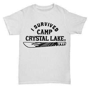192c09c9f1a4 CAMP CRYSTAL LAKE INSPIRED FRIDAY 13TH MOVIE FILM HORROR MENS RETRO ...