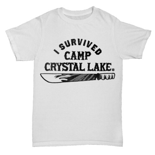 CAMP CRYSTAL LAKE INSPIRED FRIDAY 13TH MOVIE FILM HORROR MENS RETRO T Shirt