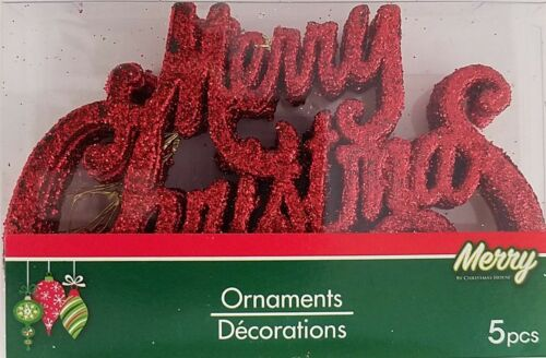 Theme /& Color Christmas Ornaments Glitter Classic Theme Icons 5 Ct//Pk  SELECT