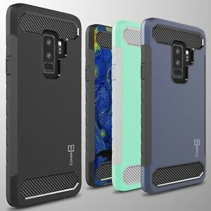 online retailer cf2f1 e2026 For Samsung Galaxy S9 Plus Case - Hard Armor Phone Cover with Carbon ...