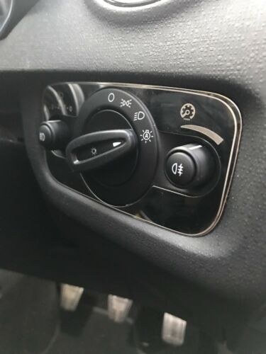 Ford Fiesta Chrome Light Switch Cover Steel Mk7.5 ST180 ZS S Ecosport UK SELLER