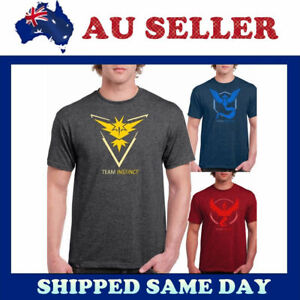 Pokemon-Go-Team-Valor-Mystic-Instinct-Pokeball-Nerd-Anime-T-Shirt-Shirt-Tops-Tee