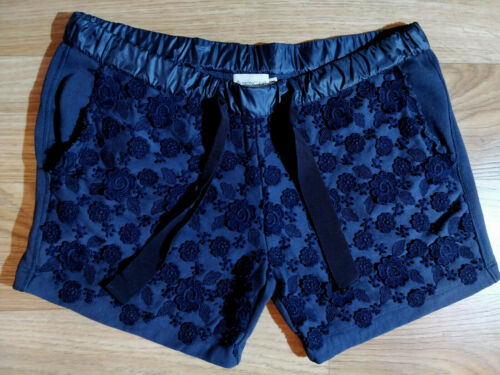 Moncler Womens Floral Pattern Embroidered Navy Cot