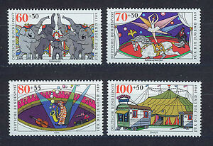 ALEMANIA-RFA-WEST-GERMANY-1989-MNH-SC-B678-B681-Circus