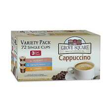 72 ct. Grove Square Cappuccino Variety K-Cup French Vanilla, Hazelnut or Caramel