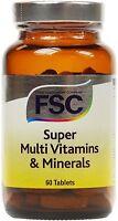 FSC Super Multi Vitamins & Minerals 60 Tablets *BUY 1 GET 1 FREE*