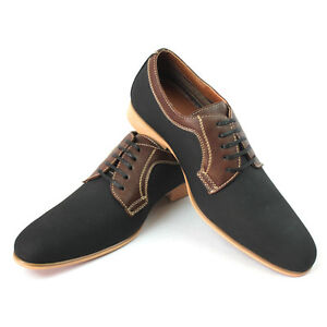 Mens-Black-Dress-Shoes-Nubuck-Ferro-Aldo-Snipe-Toe-Lace-Up-Leather-Lining-Modern