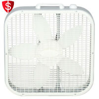 Portable Floor Fan 3 Speed Indoor Electric Air Cooling Living Room Bedroom Box
