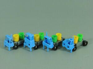 Coches-Vehiculos-Crucible-Set-Completo-con-Azul-Fahrerhausern-Bote-Amarillo