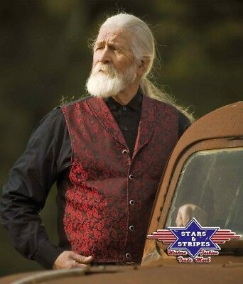 -GILETS country western ref:RED BLUFF Stars&Stripes-