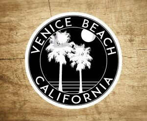 Venice-Beach-California-Sticker-Decal-Beach-Ocean-Surfing-Vinyl-3-034-x-3-034-Surfer