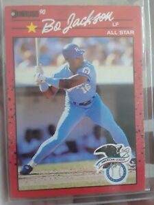 ERROR BO JACKSON 1990 DONRUSS ALL-STAR #650 ERROR RECENT MAJOR & CORRECTED CAR