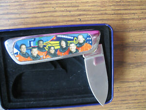 Commemorative-Knife-In-Memory-of-Space-Shuttle-Columbia-2-1-2003-With-Box