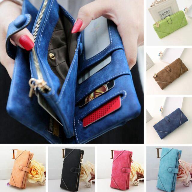 Women Lady PU Leather Wallet Purse Long Handbag Clutch Bag Envelope Card Holder