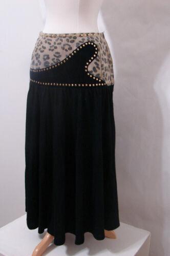 AYAKO Skirt Vintage Animal Print Suede Wool Gold S