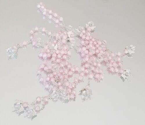 24X Pink Mini Angel Rosary Quinceanera Baptism Communion Recuerdos de Mi bautizo