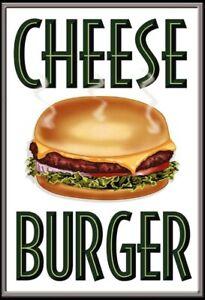 Cheese Burger Cheeseburger Tin Sign Shield Arched 20 X 30 CM FA0357