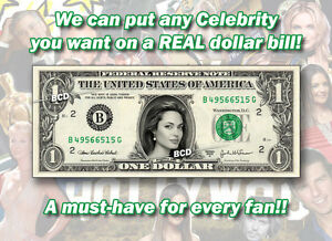 Image Is Loading One 1 Celebrity Dollar Bill Any Celebrity You