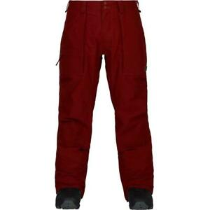 2018-NWT-MENS-BURTON-SOUTHSIDE-SNOW-PANTS-XL-fired-brick-mid-fit