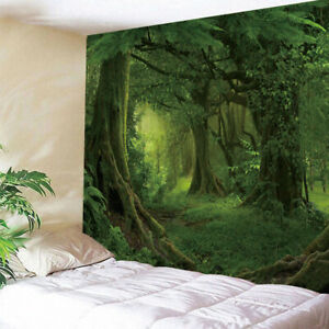 3D Fashion Tapestry Decorative Mural Wall DIY Mats Forest Sunshine Pattern