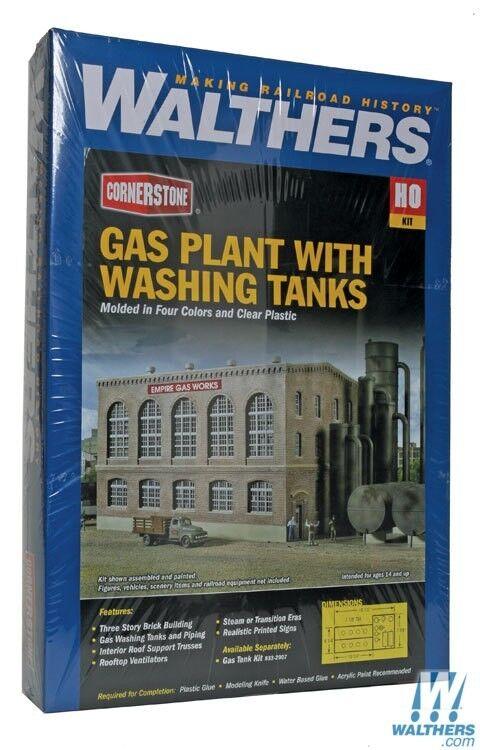 HO HO HO Walthers Cornerstone kit 933-2905  Gas Plant with Washing Tanks  NIB 5a27a7