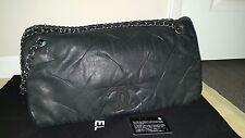Mypoupette AUTHENTIC BLACK CHANEL IRIDESCENT XL TOTE BAG EXCELLENT