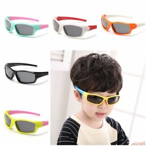 Girls-Boys-Kids-Toddler-Sporty-UV400-Polarized-Sunglasses-Cycling-Outdoor-Shades
