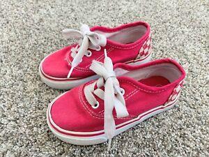 Toddler Girls Pink Checkered Sneakers