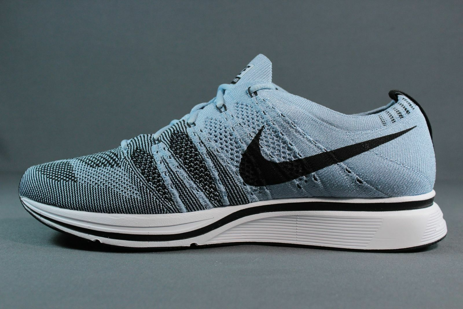 NIKE FLYKNIT TRAINER AH8396-400 DS CIRRUS BLUE BLACK WHITE DS AH8396-400 SIZE: 13 OFF WHITE a1f090