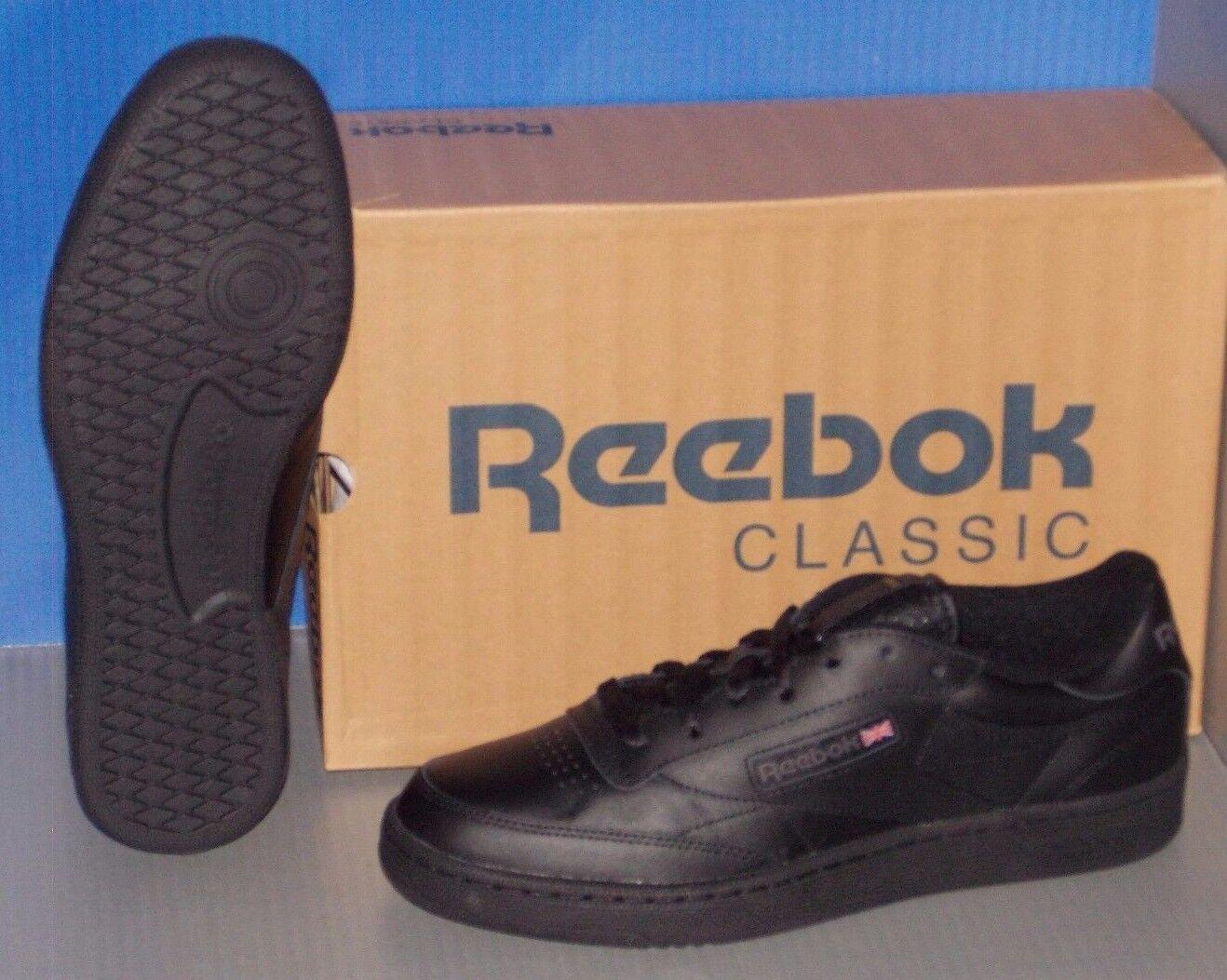Herren / REEBOK CLUB C 85 in colors BLACK / Herren CHARCOAL SIZE 12 1f88a9