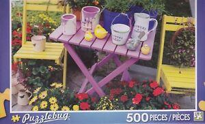 Branscombe NEW Puzzlebug 500 Piece Jigsaw Puzzle ~ Pretty Cottage Garden