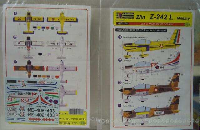 Décalcomanie Zlín Z-242 L Militaire, KP , 1:72, Sticket, Neuf