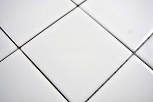 Mosaïque carreau céramique blanc brillant cuisine mur bain 23-0101_b ...