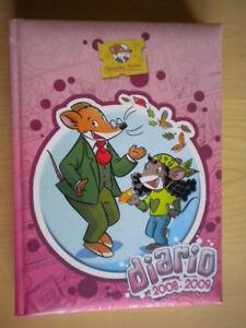 Geronimo-Stilton-Diario-Piemme-GUT-Bavaj-illustrato-adesivi-rilegato-come-nuovo