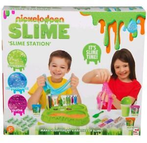 Nickelodeon-Slime-Estacion-Crear-Tu-Propio-Kit-10-Varieties-Playset-de-Juguete
