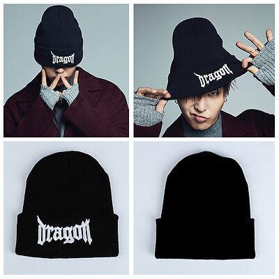 GD G-Dragon BIGBANG knit cap goods New Black XHM166