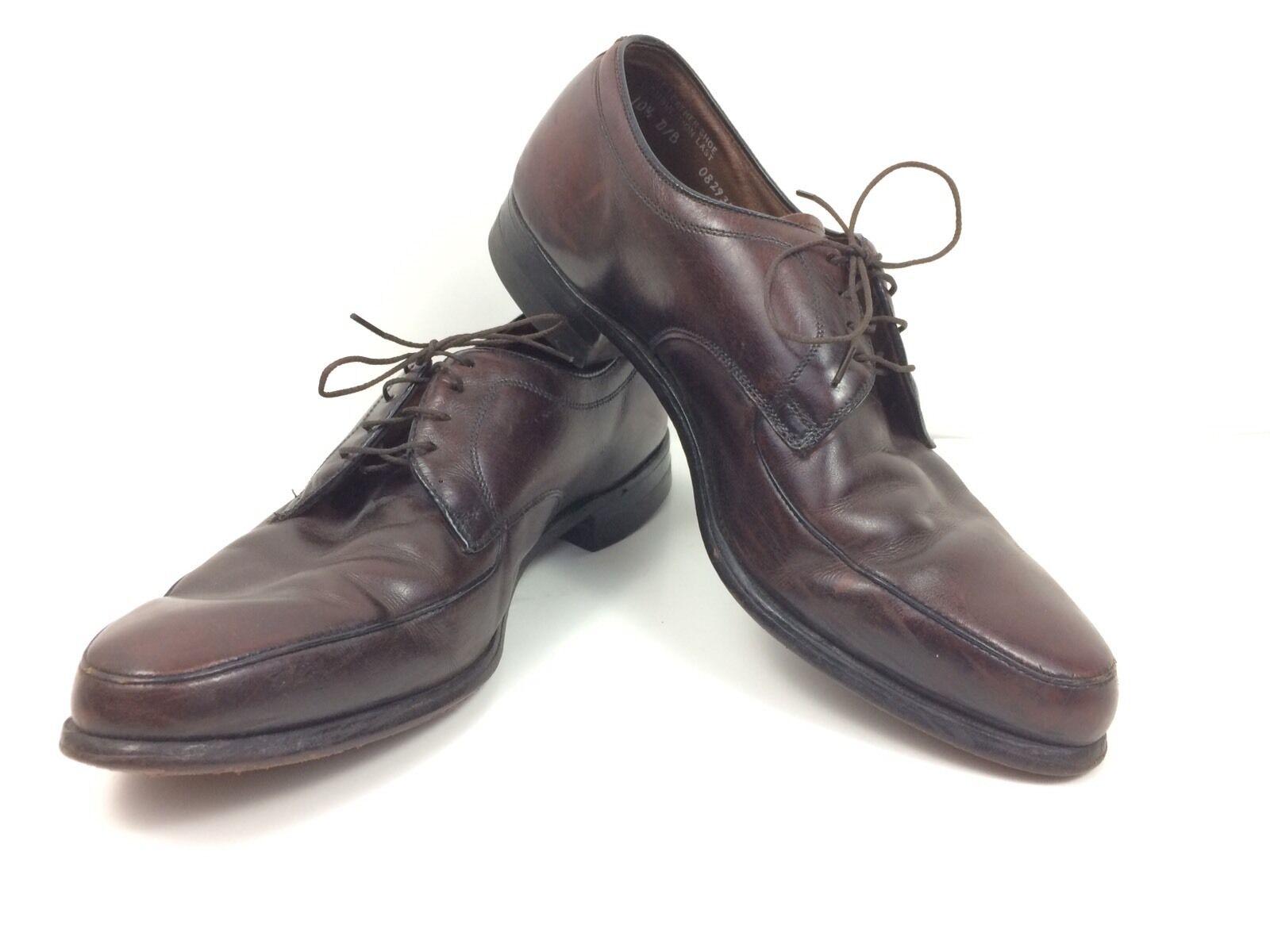 MENS Genuine Calfskin Leather Dress shoes 10 1 2 D B Combination Last Brown shoes