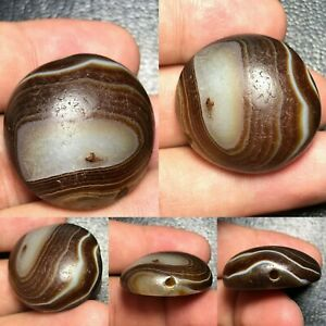 Wonderful-Ancient-Natural-Agate-Lukmik-Ancient-Dzi-Bead