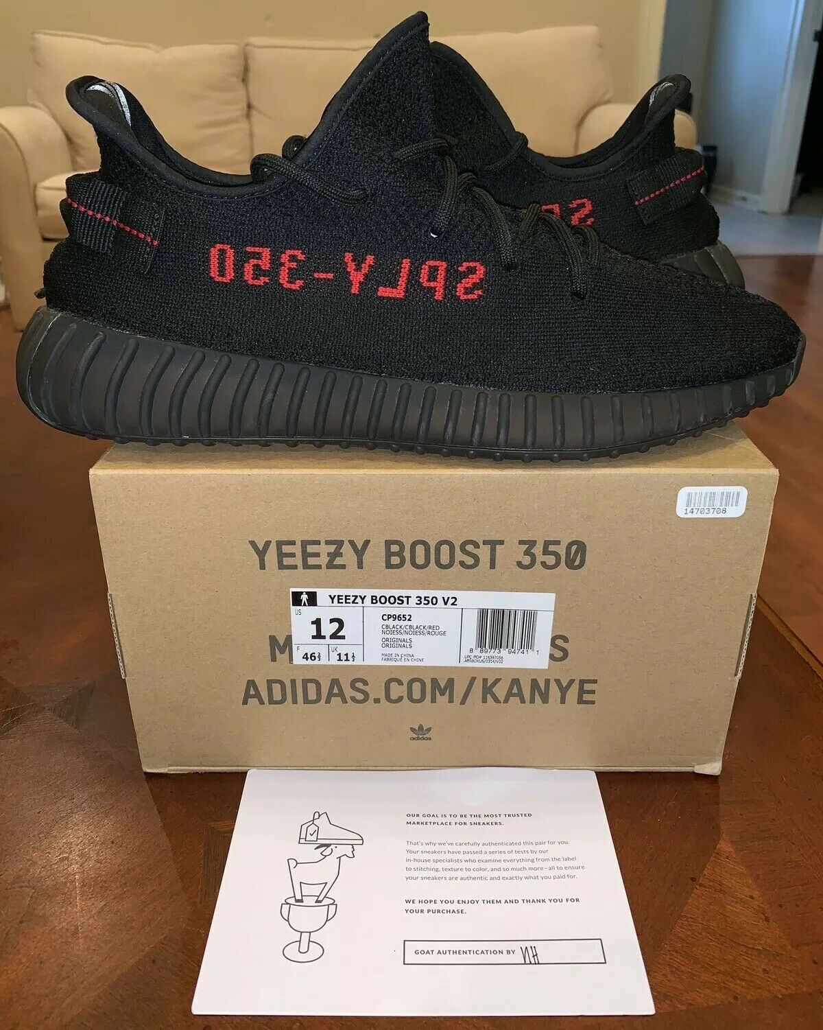 separation shoes 0ec9f d043b Adidas Yeezy Yeezy Yeezy Boost 350 V2 Black Red Bred 12 Kanye West Core  Static Pirate