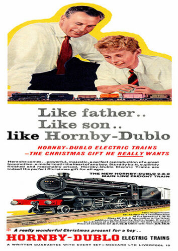 vintage advertising poster reproduction. Hornby Dublo